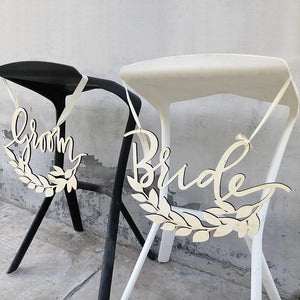 Wedding Decor - Bride & Groom Sign - WeddingConfetti