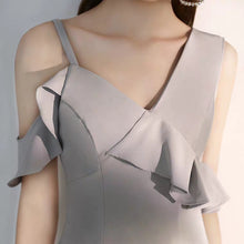 Load image into Gallery viewer, The Mindy Grey Structured Dress - WeddingConfetti