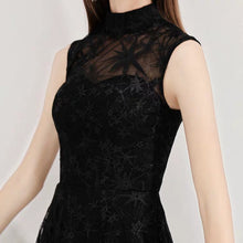 Load image into Gallery viewer, The Lorelie High Collar Lace Sleeveless Dress (Available in 2 colours) - WeddingConfetti