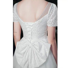 Load image into Gallery viewer, The Paisley Wedding Bridal Short Sleeves Gown