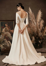 Load image into Gallery viewer, The Penelope Wedding Bridal Scalloped Hemline Off Shoulder Gown