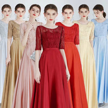 Load image into Gallery viewer, The Kadesha Long Sleeves Blue / Red / Gold / Grey / Pink Gown (Available in many colours) - WeddingConfetti