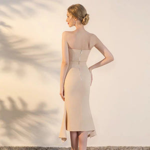 The Ixoria Champagne Tube Gown