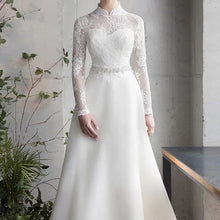 Load image into Gallery viewer, The Mayrine Wedding Bridal Long Sleeves Gown - WeddingConfetti