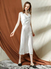 Load image into Gallery viewer, The Katelle White Satin Dress - WeddingConfetti