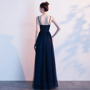 The Ryona Navy Blue Sleeveless Gown