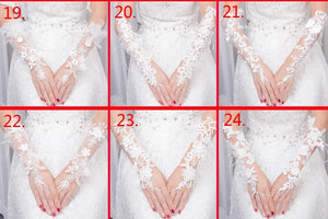 Wedding Lace White Gloves - WeddingConfetti