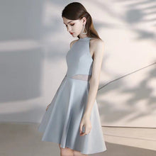 Load image into Gallery viewer, The Amy Halter Grey Structured Dress - WeddingConfetti