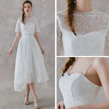 Load image into Gallery viewer, The Rachelle Wedding Bridal White Two Piece Bridal Separates Cropped Top and Skirt