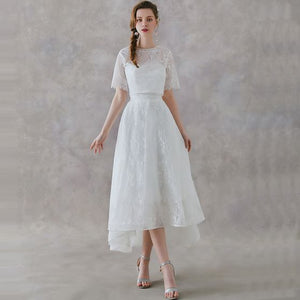 The Rachelle Wedding Bridal White Two Piece Bridal Separates Cropped Top and Skirt