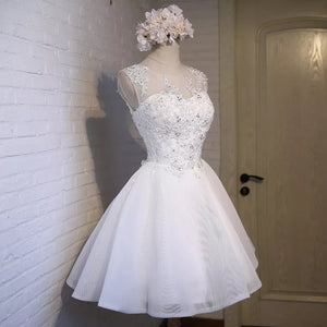 The Yvette Short White Tulle Gown - WeddingConfetti