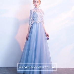 The Coreen Long Sleeves Lace Dress (Available in 3 colours/Customisable) - WeddingConfetti