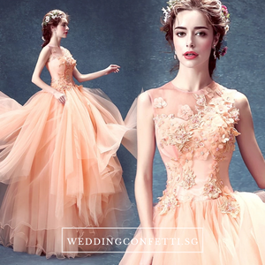 The Johanie Wedding Bridal Coral Gown - WeddingConfetti
