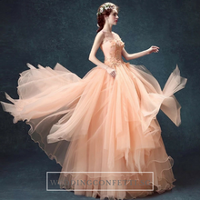 Load image into Gallery viewer, The Johanie Wedding Bridal Coral Gown - WeddingConfetti