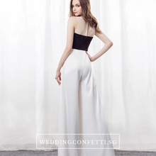 Load image into Gallery viewer, The Oriselle Toga Colour Block White and Black Dress / Gown / Pantsuit - WeddingConfetti