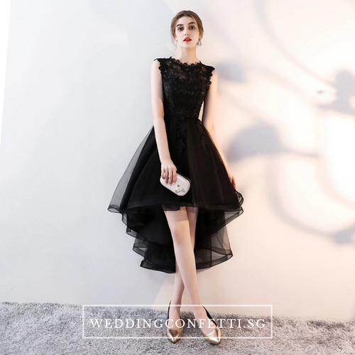 The Louise Sleeveless Black Gown - WeddingConfetti