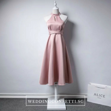 Load image into Gallery viewer, The Karyn Black / White / Pink / Red Halter Gown - WeddingConfetti