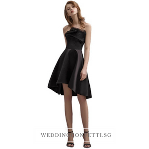 The Carenlyn Bridal Wedding Black Organza Tube Dress - WeddingConfetti