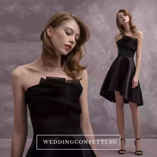 Load image into Gallery viewer, The Carenlyn Bridal Wedding Black Organza Tube Dress - WeddingConfetti