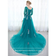 Load image into Gallery viewer, The Greta Green Long Sleeves Lace Gown (Customisable) - WeddingConfetti