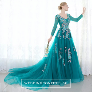 The Greta Green Long Sleeves Lace Gown (Customisable) - WeddingConfetti