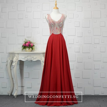 Load image into Gallery viewer, The Xandora Crystals Sleeveless Gown