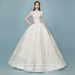 The Eteena Off Shoulder Gown - WeddingConfetti