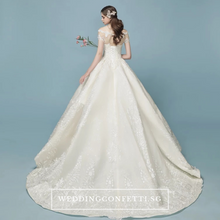 Load image into Gallery viewer, The Eteena Off Shoulder Gown - WeddingConfetti