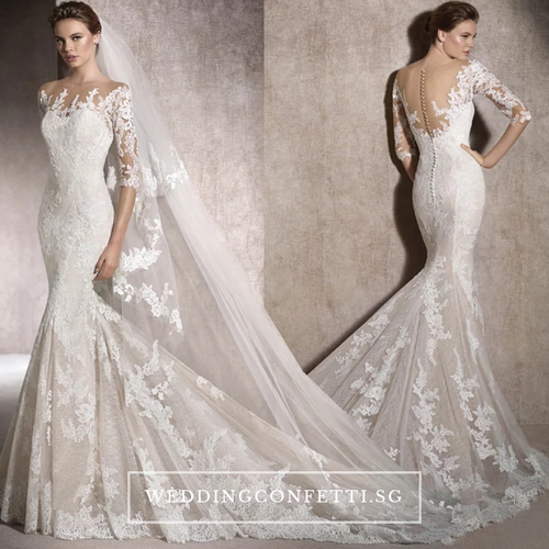 The Rossana Wedding Bridal Long Sleeves Gown
