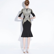 Load image into Gallery viewer, The Pezice Black Long Sleeves Dress - WeddingConfetti