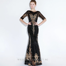 Load image into Gallery viewer, The Perise Black Long Sleeves Dress - WeddingConfetti