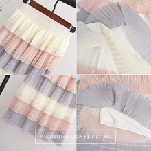 Load image into Gallery viewer, The Lara Bridesmaids Tiered Skirt - WeddingConfetti