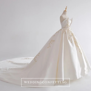 The Jezalyn Weddding Bridal Satin Gown - WeddingConfetti