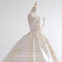 Load image into Gallery viewer, The Jezalyn Weddding Bridal Satin Gown - WeddingConfetti