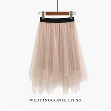 Load image into Gallery viewer, The Lorraine Bridesmaid Layered Tulle Skirt - WeddingConfetti