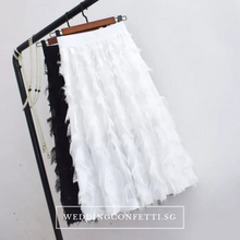 Load image into Gallery viewer, The Fetcher Bridesmaid Feathered Skirt - WeddingConfetti