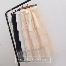 Load image into Gallery viewer, The Simone Bridesmaid Layered Skirt - WeddingConfetti