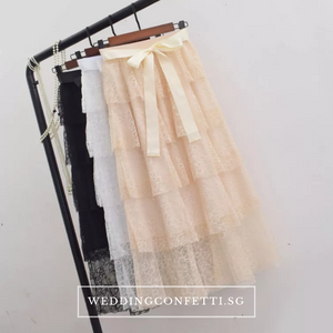The Simone Bridesmaid Layered Skirt - WeddingConfetti
