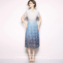 Load image into Gallery viewer, The Evita Lace Short Sleeves Dress