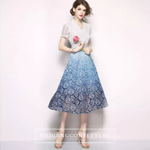 Load image into Gallery viewer, The Evita Lace Short Sleeves Dress - WeddingConfetti