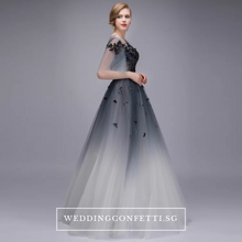 Load image into Gallery viewer, The Ophelle Wedding Bridal Long Illusion Sleeves Dress - WeddingConfetti