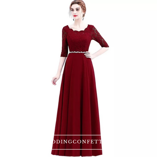 The Sophella Royal Blue / Bright Red / Wine Red / Black Dress - WeddingConfetti