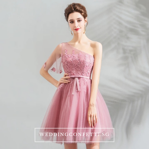 The Pamelia Toga Pink Dress - WeddingConfetti
