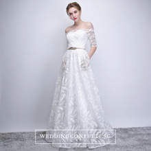Load image into Gallery viewer, The Philadelphia Off Shoulder Gown - WeddingConfetti