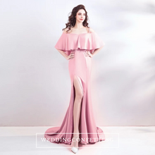 Load image into Gallery viewer, The Pennicily Pink Off Shoulder Dress - WeddingConfetti