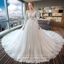 Load image into Gallery viewer, The Avabella Long Sleeves Gown - WeddingConfetti