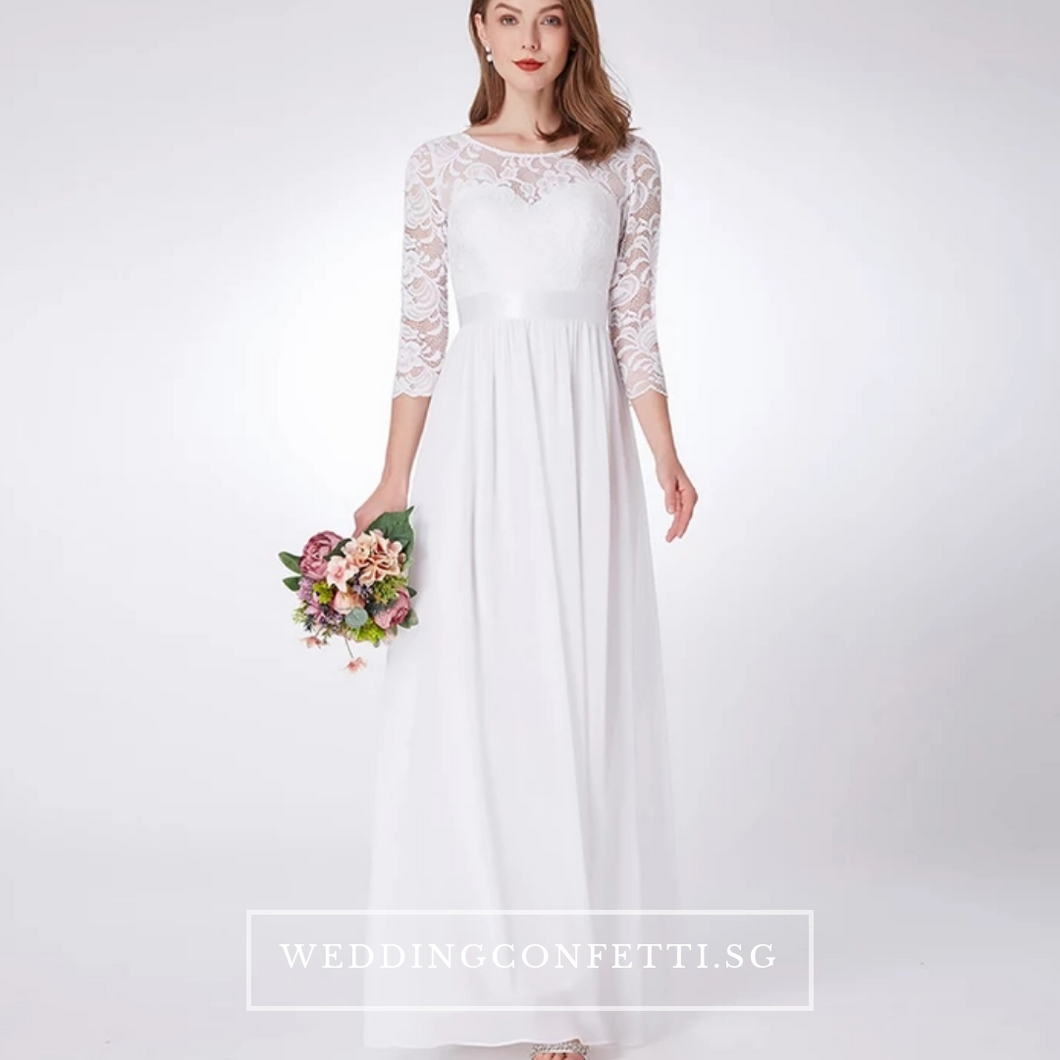 The Cadenza Long Sleeves Dress (Available in 4 Colours) - WeddingConfetti