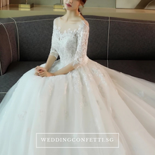Load image into Gallery viewer, The Demetrios Wedding Bridal White Illusion Gown - WeddingConfetti