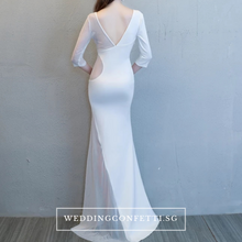 Load image into Gallery viewer, The Orienza White/Black/ Red Sleeveless Gown - WeddingConfetti