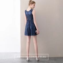 Load image into Gallery viewer, The Terezin Navy Blue Sleeveless Sequins Dress - WeddingConfetti